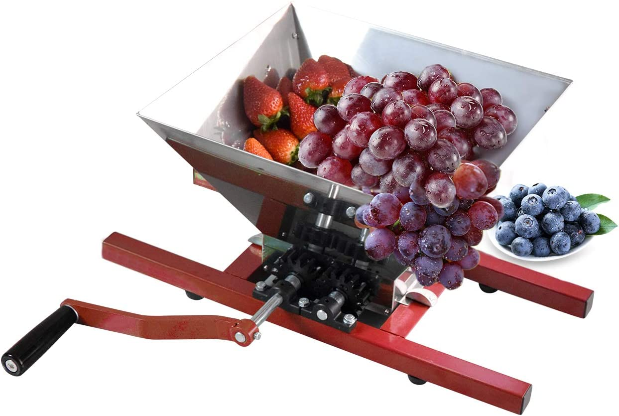 Grape Berry Wine Fruit Manual Crusher Grinder -7 Litre Large Stainless Steel- for Manual Cider Juicer Grinder & Fruit Scatter,Berry Wine Sauce