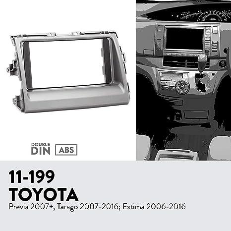 11-199 Double 2 DIN Plastic Radio Stereo Car Fascia For TOYOTA Estima /& Previa
