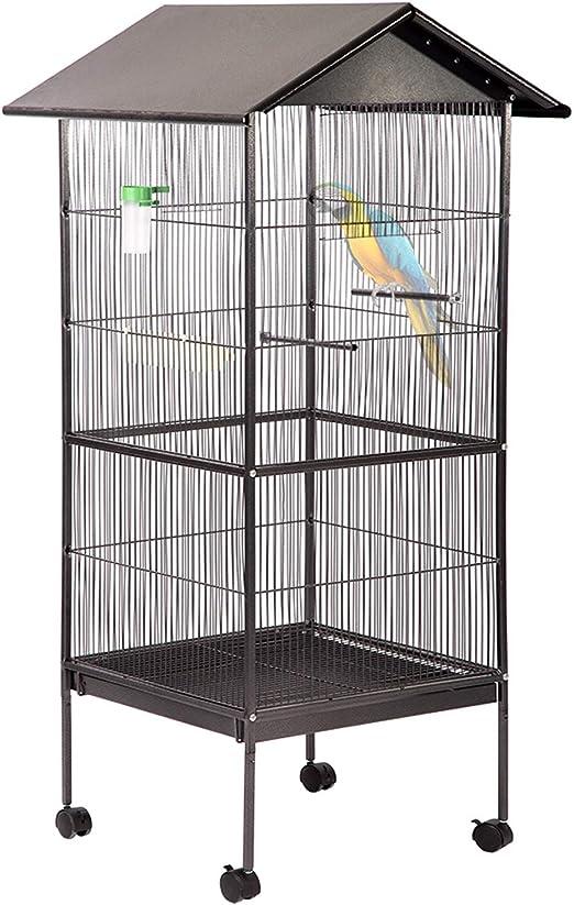 Bestpet Jaula Para Pájaros Jaula Para Sugerir Resistente Para Loros Parakeet Cocatiel Con Estante De Almacenamiento De Madera De 61 Pulgadas Mascotas