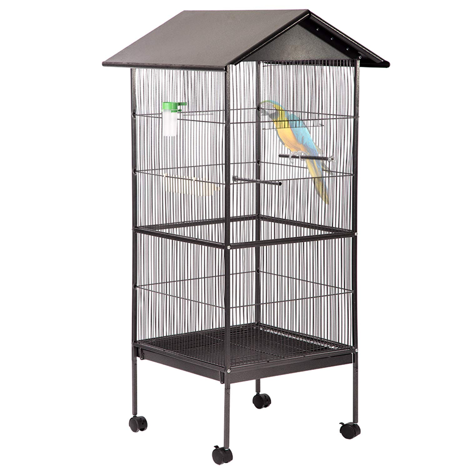 BestPet Large Bird Cage Suger Glider Cage Heavy Duty Conure Parrot Finch Flight Cage for Budgie Parakeet Cockatoo Cocatiel with Wooden Perch Storage Shelf, 61 inches by BestPet