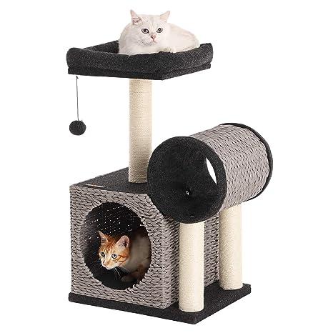 FEANDREA Árbol para Gatos, Torre para Gatos, Papel Tejido ...
