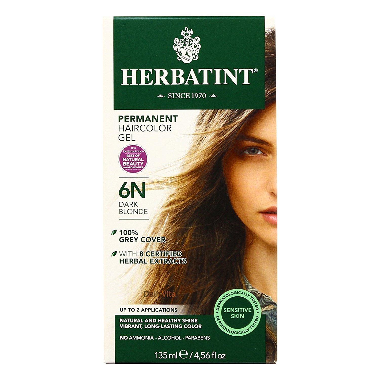 Herbatint 6N Permanent Herbal Dark Blonde Haircolor Gel Kit - 3 per case.