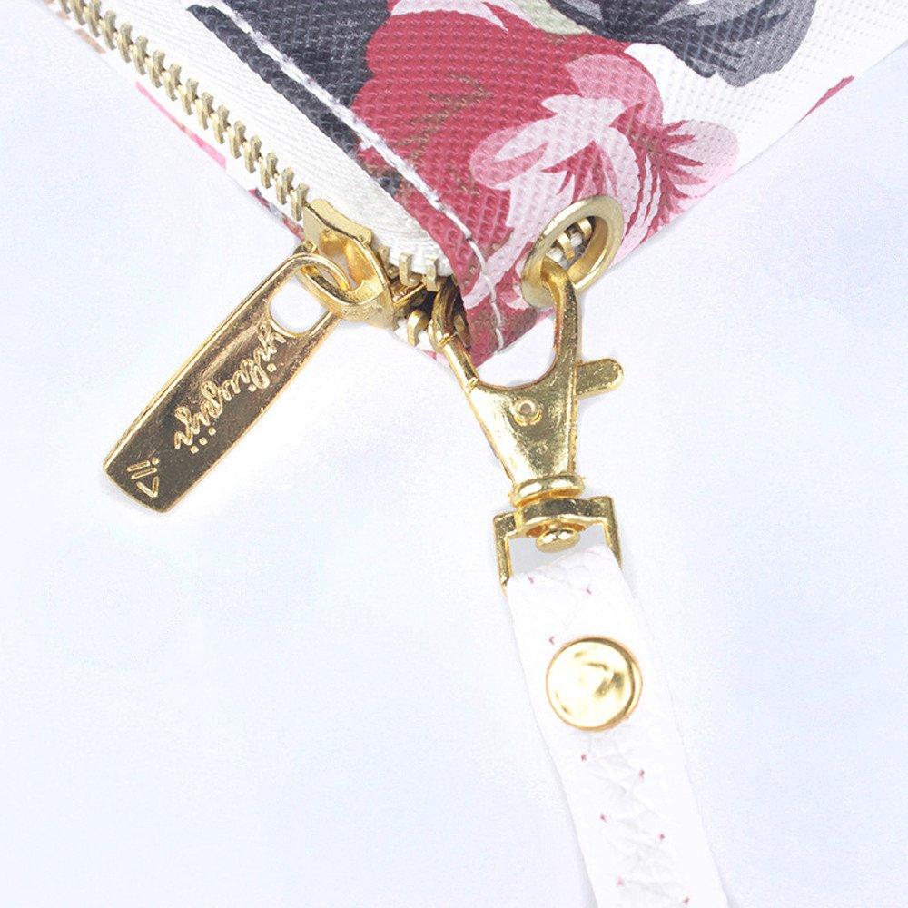 MaxFox Women Fashion Single Pull Rose Long Wallet Zipper Coin Purse Phone Bag Divider Organizer Storage Clutches (A) by MaxFox (Image #6)
