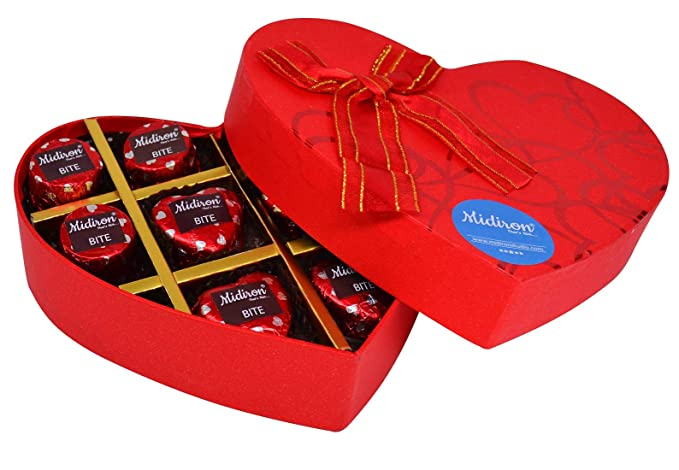 Midiron Chocolate Gift Box Milk Chocolate Box For Valentine S Day Birthday Anniversary 10 Chocolate Amazon In Grocery Gourmet Foods