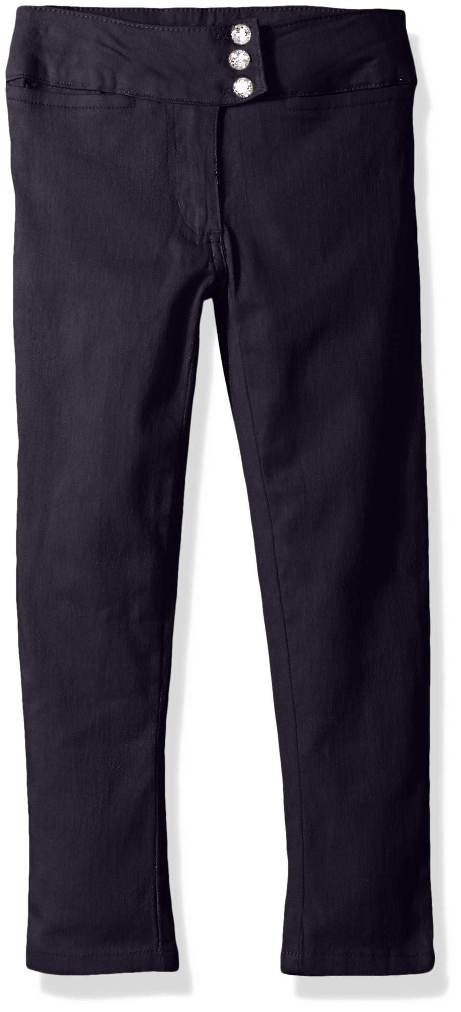 Cherokee Big Girls' Uniform Stretch Twill Skinny Pant, Navy Stone, 10