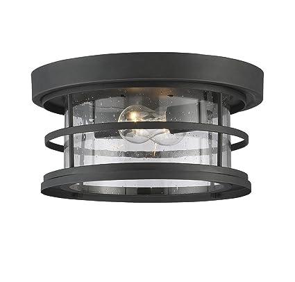 Savoy house barrett 13 outdoor ceiling light in black