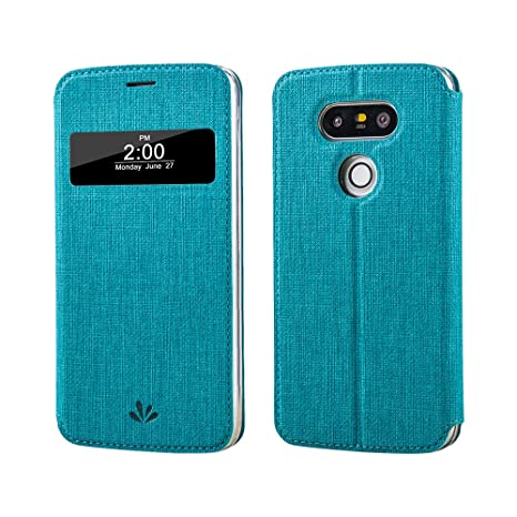 LG G5, LG G5 Funda Smart Cover, meiya Premium piel sintética con ventana Auto Sleep/Wake Up Fashion funda carcasa para LG G5, compatible con LG G5