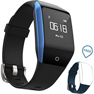 Coffea Fitness Tracker, C8 Activity Watch with Heart Rate Monitor Bluetooth Sport Smart Watch With