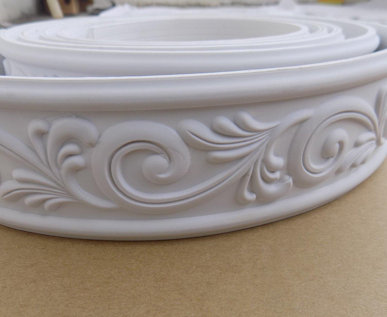 Home Decorate Modelling Crown Mouldings Trim Flexible Molding Ceiling Border Line Interior Decoration Wall Picture Edge Waist Door CasingCorners 2.36'' x 0.24'' x 115''