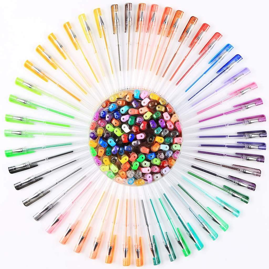 Smart Color Art 100 Colors Gel Pens Set for Adult Coloring Books Drawing Painting Writing by Smart Color Art (Image #2)