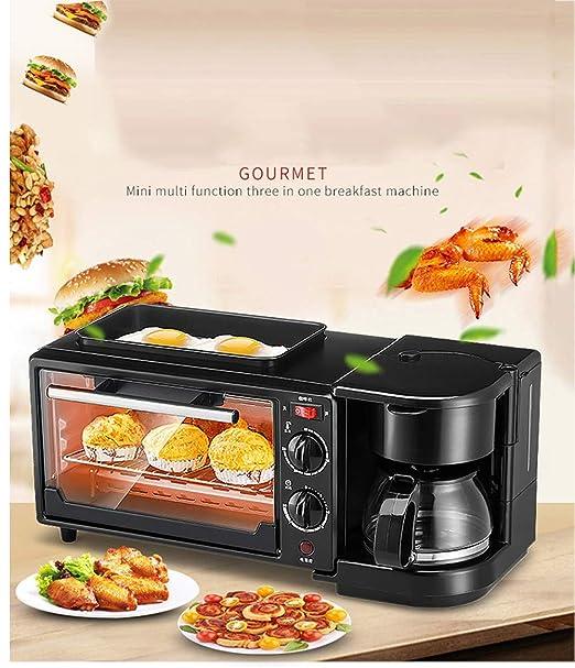 KKMBJ tostadora Tostadora eléctrica cafetera de café huevo frito ...