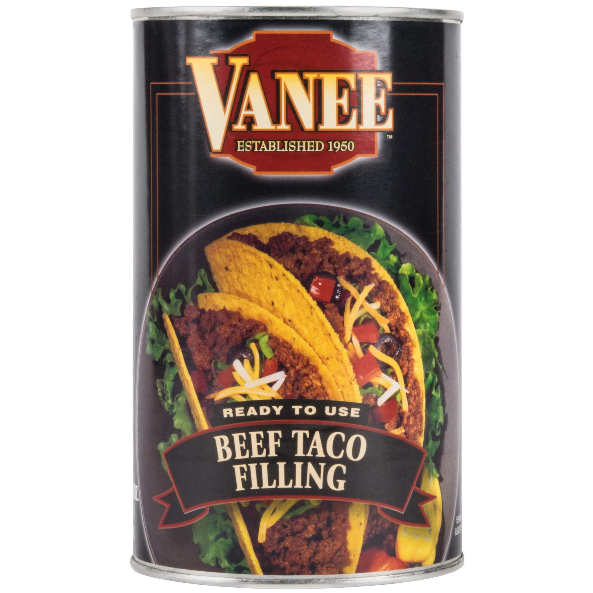 TableTop King 356T3 48 oz. Can Beef Taco Filling - 6/Case
