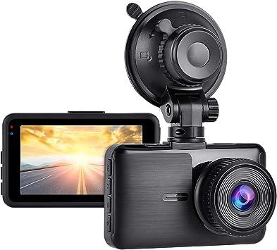 Aigoss Cámara de Coche Dashcam 1080P Full HD Grabador de Conducción para Automóviles de 170° Gran Angular con Pantalla LCD de 3