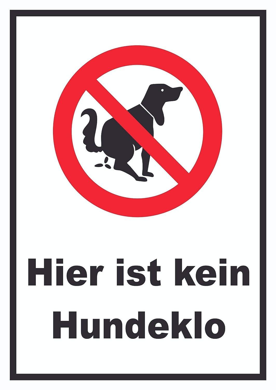 Aquí No es un perro WC Cartel, A2 Rückseite selbstklebend ...