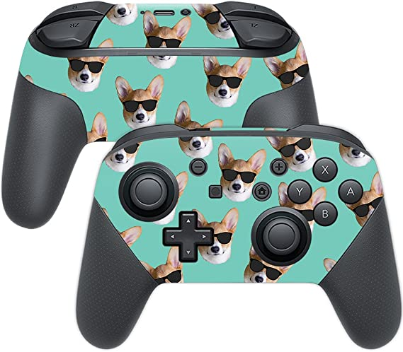 Amazon Com Mightyskins Skin Compatible With Nintendo Switch Pro Controller Cool Corgi Protective Durable And Unique Vinyl Decal Wrap Cover Easy To Apply Remove And Change Styles Made In The Usa