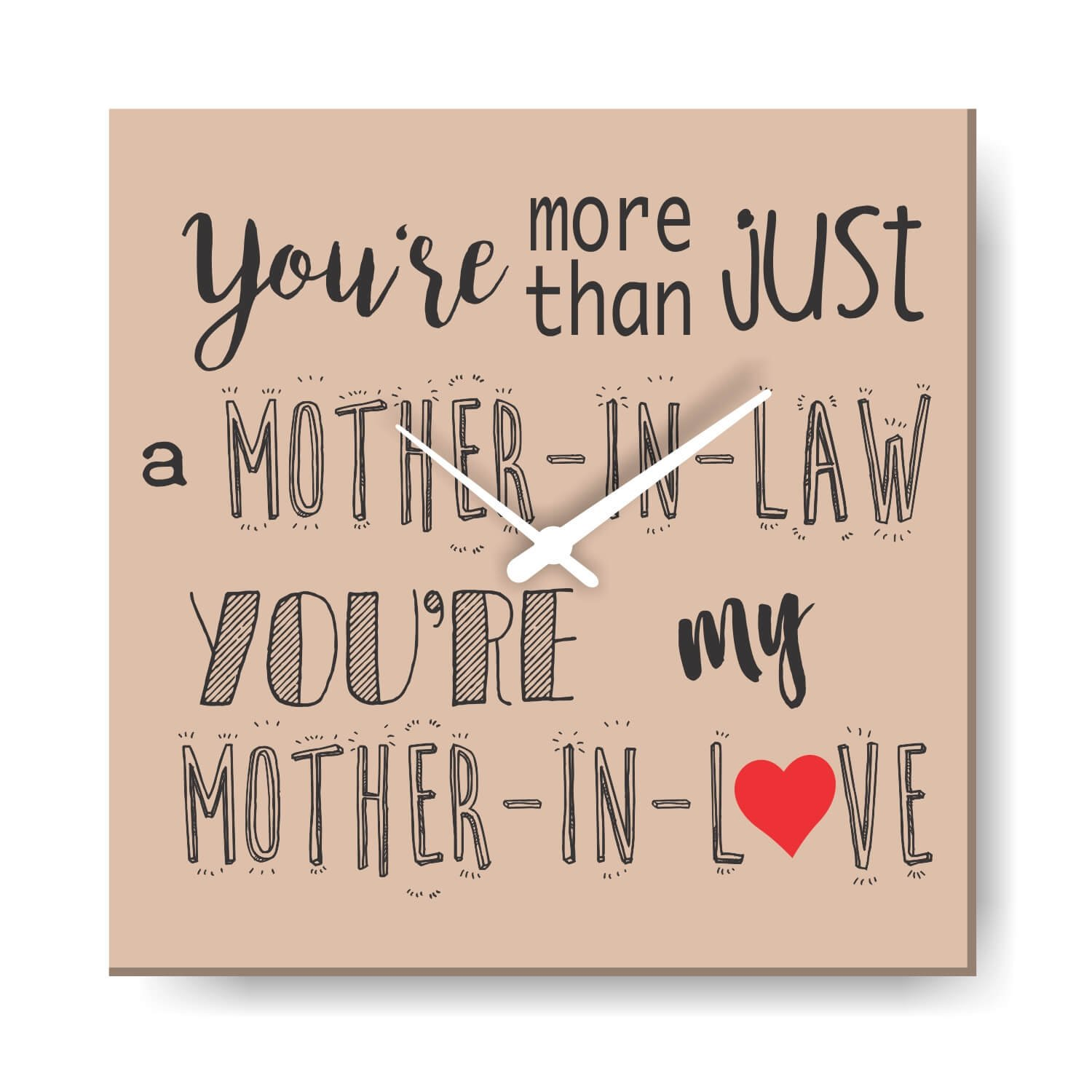 Buy YaYa Cafe Birthday Gifts For Mother In Law Love Canvas Wall Clock