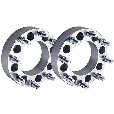 "DCVAMOUS 2pc 2"" Wheel Adapters 8x6.5 to 8x180 with 14x1.5 Studs Compatible for Chevy Express Suburban Silverado 2500 3500 | GMC Savana Sierra Yukon 2500 3500(8 Lug Adapter-Change Bolt Pattern): Automotive"