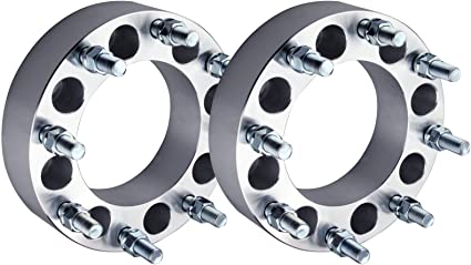 2X 2 8x6.5 to 8x180 126.15mm 14x1.5 fit Express 2500 3500 //Silverado 2500 HD 3500HD//GMC Sierra 2500 HD SCITOO Compatible with 8 lug Chevy Wheel Spacer