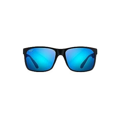 ce6d81a21f Maui Jim Red Sands H43211T Mens Womens Sunglasses Polarised Black and Grey  Tortoise - Color  Matte Black  Amazon.co.uk  Clothing