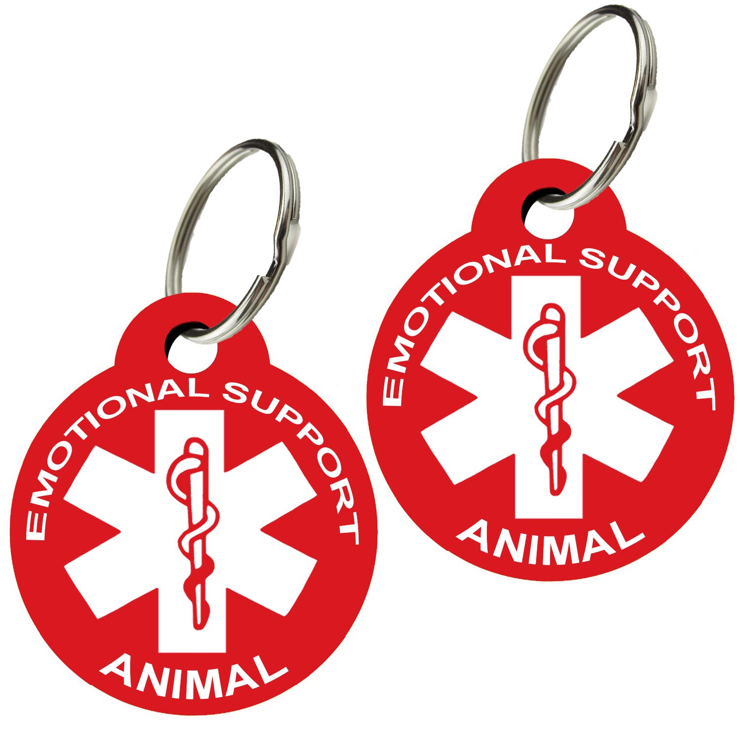 ESA - Pet ID Tags Various Shapes and Colors Doubled Sided Emotional Support A