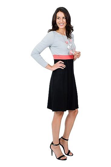 Mania Stillkleid Lilly Schicke Bequeme Stillmode Ermöglicht Diskretes Stillen Stillkleid Langarm Shirt A Linie Figurschmeichelnd Versch