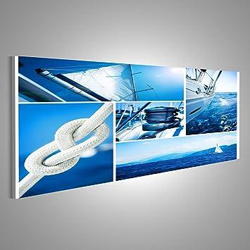 Islandburner Bild Bilder Auf Leinwand Yacht Collage. Segelboot. Yachting  Konzept Wandbild,