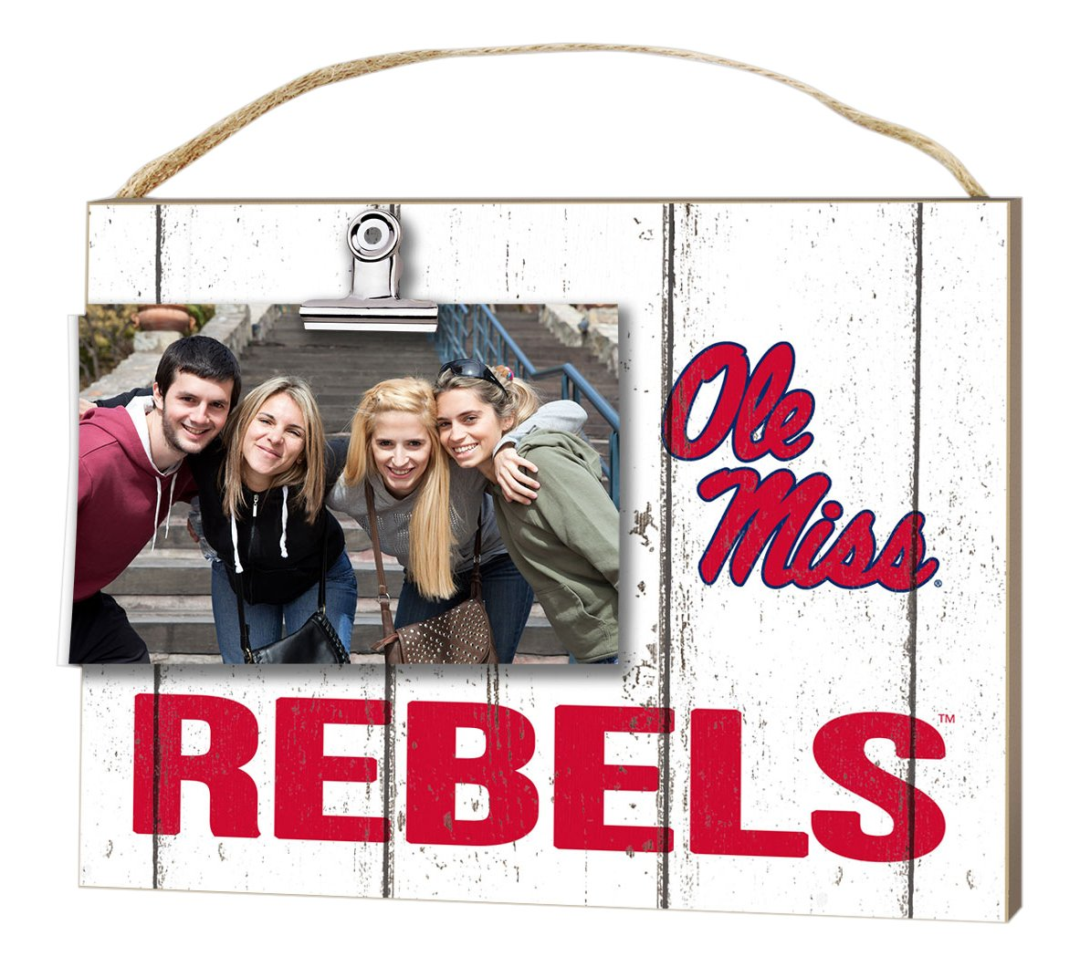 KH Sports Fan 10''x8'' Mississippi Rebels Clip It Weathered Logo Collage Photo Frame by KH Sports Fan