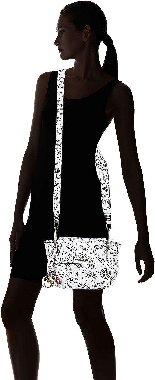 25x18.5x5.5 cm Graffiti//Gft Women/'s Cross-Body Bag Guess Sally Multicolour W x H L