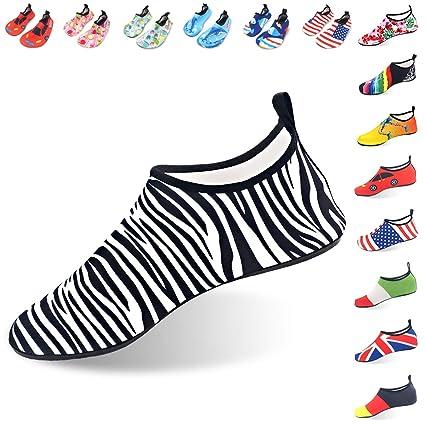 LYSHION Zapatos de Agua para Buceo Snorkel Surf Piscina Playa Yoga Deportes Acuáticos Antideslizante Mujer Zapatillas Hombre