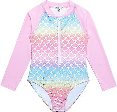 UV Jxstar Girls Rash Guard Swimwear Kids Unicorn//Mermaid Swimsuits UPF 50
