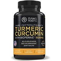 Turmeric Curcumin with BIOPERINE Black Pepper Extract - Anti Inflammatory, Joint Support, 95% Curcuminoids - Dietary Supplement - 60 Vegetarian Capsules (60)