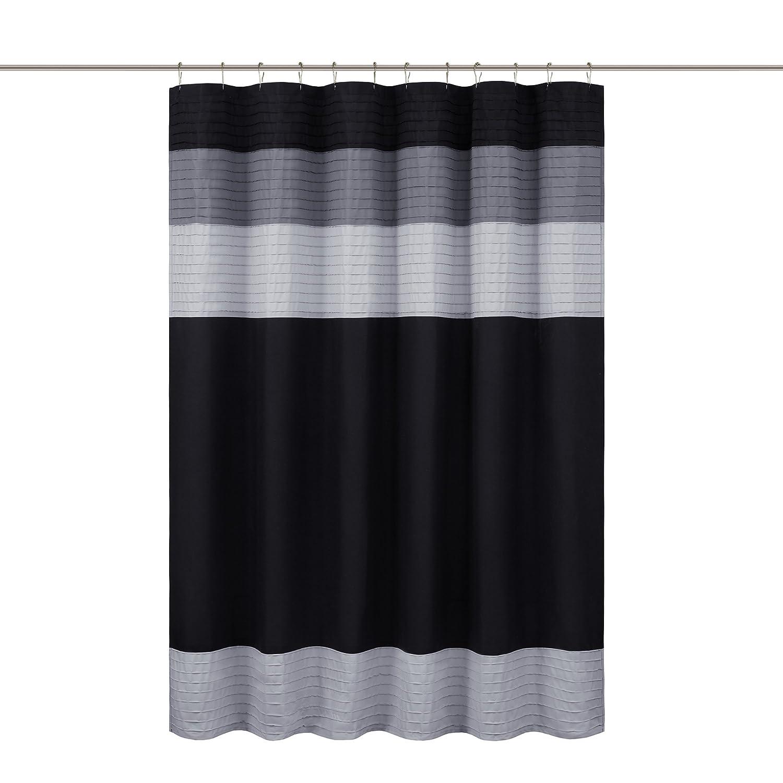 Amazon Comfort Spaces Windsor Shower Curtain Black