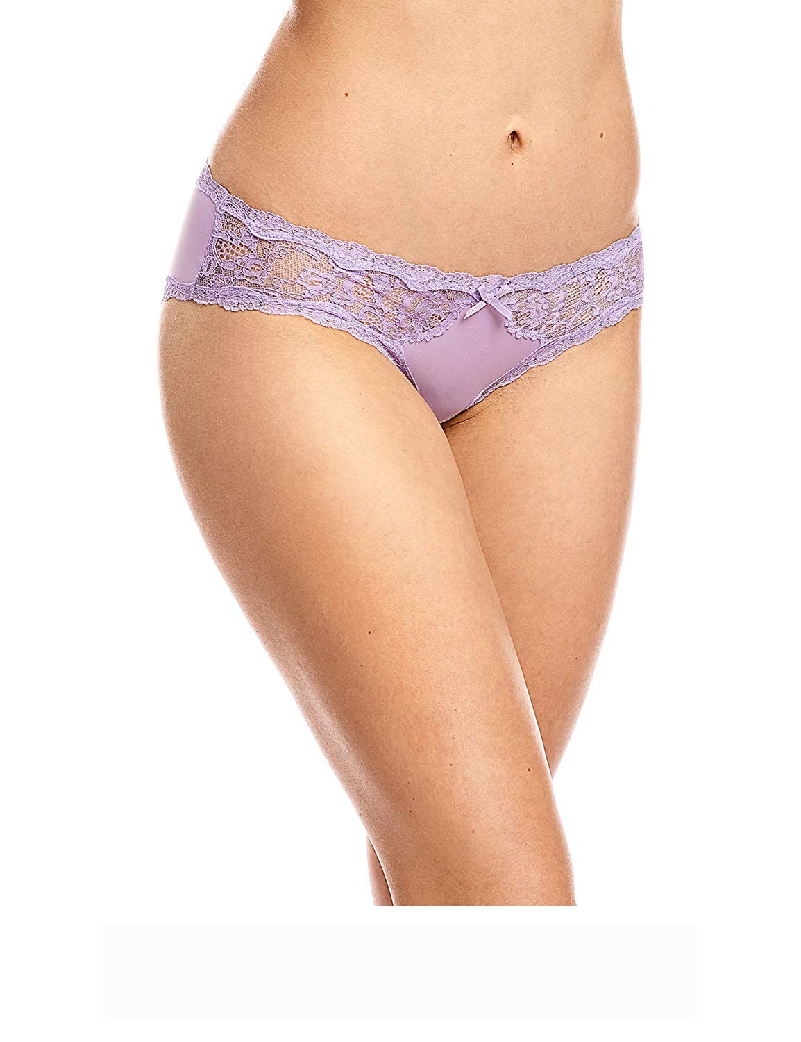 Dobreva Women's 2 Pack Basic Stretchy Lace Bikini Panties Briefs
