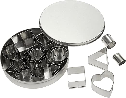 Cookie Cutter Biscuit Baking Pastry Mould Mold Cake Set Plastic Assorted Shape