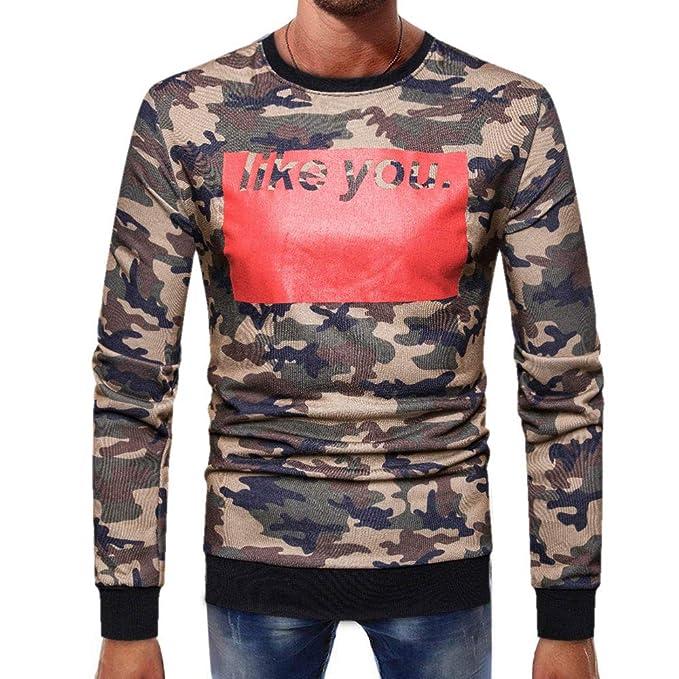 internet_camisetas de hombre Blusa Camuflaje Sólido Camisa Manga Larga Básica por Internet.: Amazon.es: Ropa y accesorios