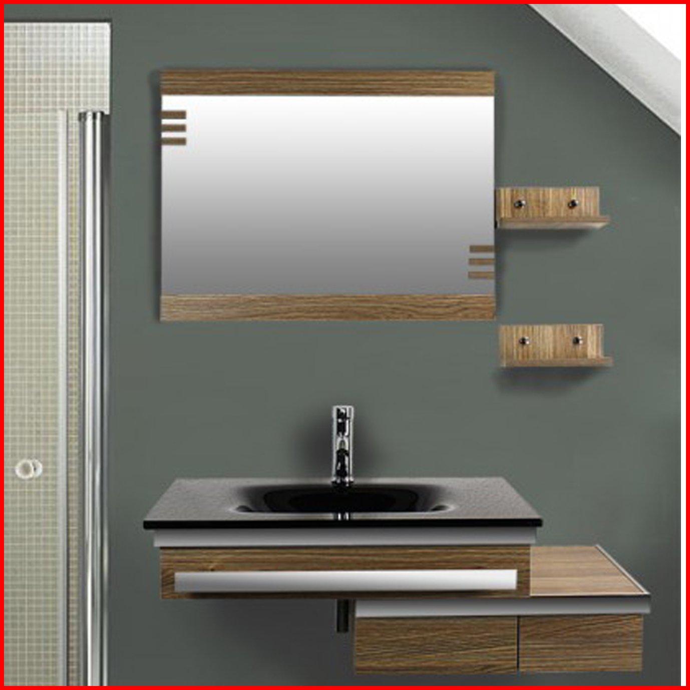 Badezimmer Komplett-Set Badmöbel inkl. Waschbecken und Armatur ...