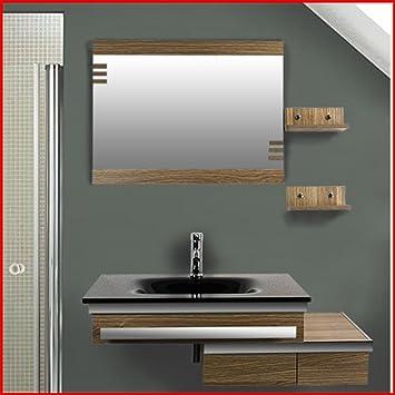 Badezimmer möbel set  Badezimmer Komplett-Set Badmöbel inkl. Waschbecken und Armatur ...