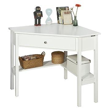 Merveilleux SoBuy FWT31 W, White Corner Desk, Triangle Table