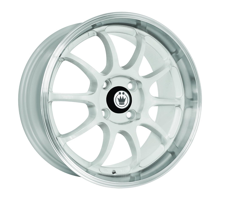 16x7//4x100mm Konig Lightning White Wheel with Machined Lip
