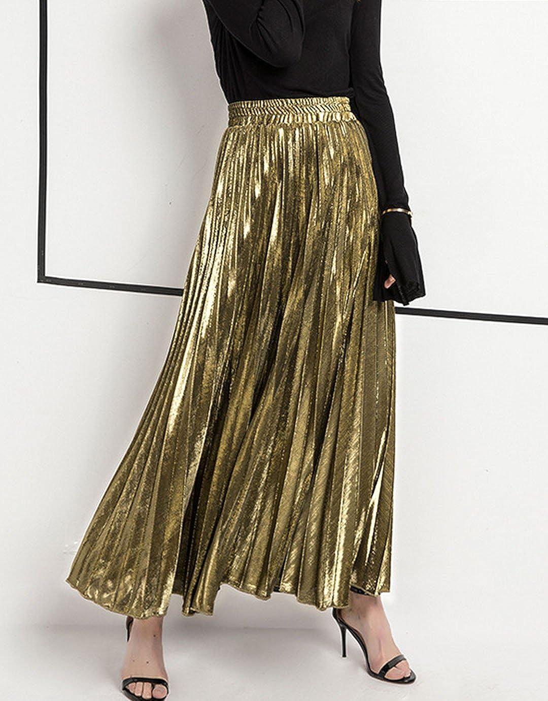 75935f20e37a5 Silver Pleated Midi Skirt Uk