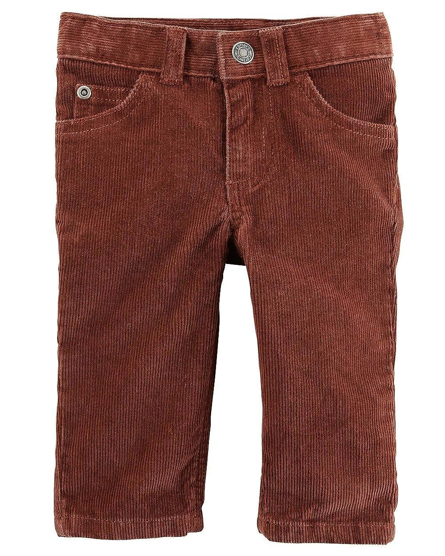 6df743668c Amazon.com: Carter's Boy's Brown Button Front Corduroy Pants (6 ...