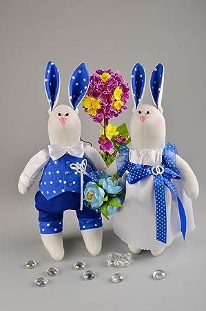 Munecos de juguete artesanales conejos elementos decorativos peluches originales
