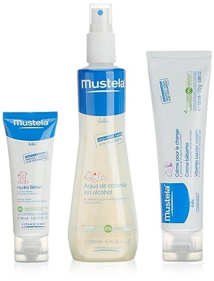 Mustela estuche fragancia agua de colonia 200 ml + crema bálsamo 100 ml + crema facial