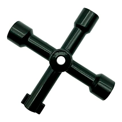 4 Way Utility Multi Cross Key For Radiators Meter Box Gas Electric Cupboard Tool
