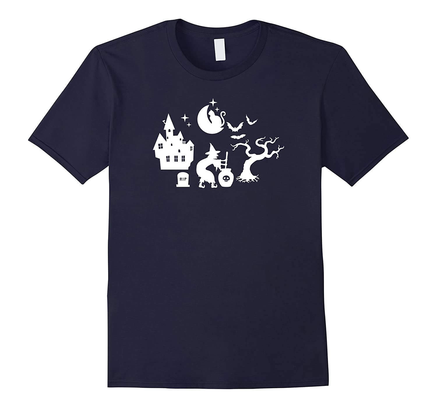 Witch Crafting Spooky Creepy Lazy Halloween Costume T-Shirt-mt