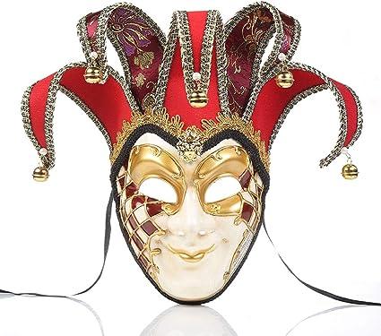 YCWY Vintage Venetiaanse Maskerade Maskers, Joker Masquerade