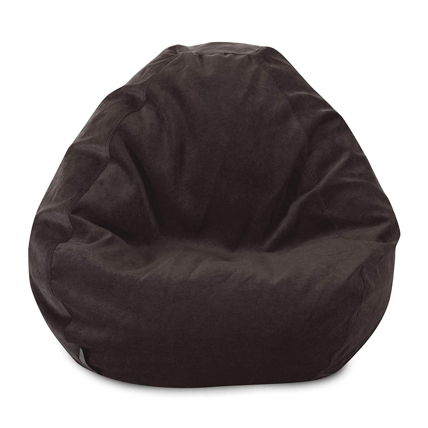 Villa Giant Classic Bean Bags for Small Adults and Kids Majestic Home Goods Classic Bean Bag Chair Vintage Gray 28 x 28 x 22 Inches