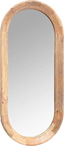Creative Co-Op Oval Wall Mirror with Mango Wood Frame