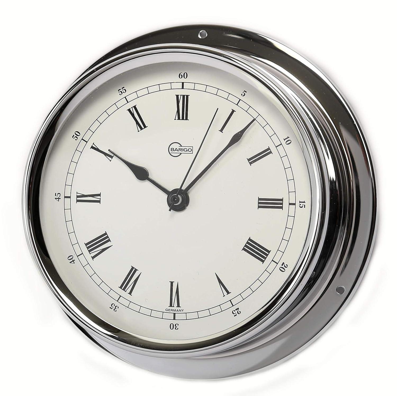 Barigo Regatta Ships Clock Chrome 120mm
