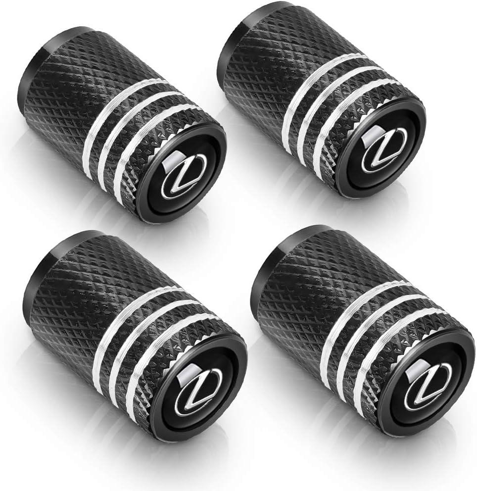 Soniubia 4Pcs Black Metal Tire Valve Stem Caps with Logo BMW M